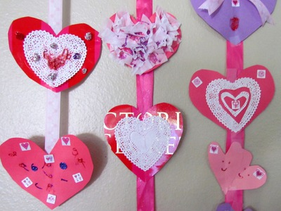 How to make a Heart Mobile Valentine's Day Craft