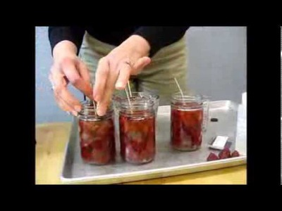 How to make a Strawberry Gel Candle with Embedded Wax Fruit with Village Craft and Candle