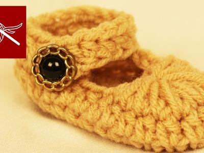How to Make Crochet Baby Mary Jane Slippers Crochet Geek