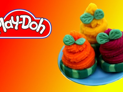 How to make  Cucumber Canapes out of Play Doh