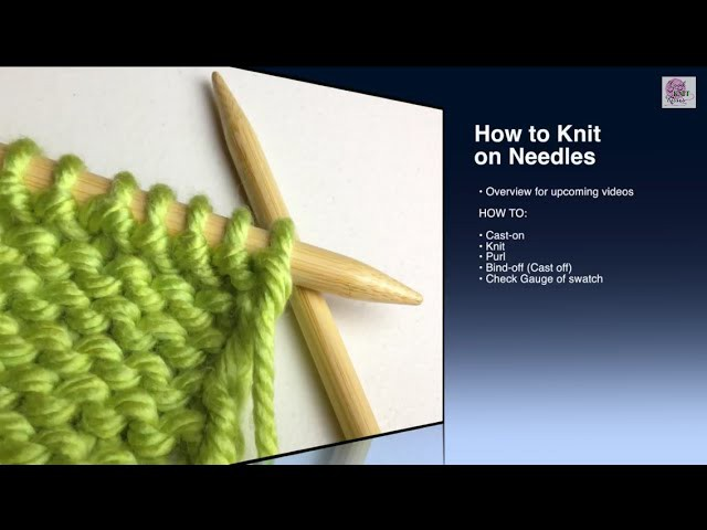 How to Purl - p Stitch Beginner (with closed captions)