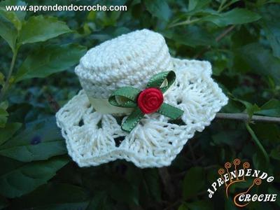 Imã. Lembrancinha de Nascimento em Croche - Mini Chapéu - Aprendendo Crochê
