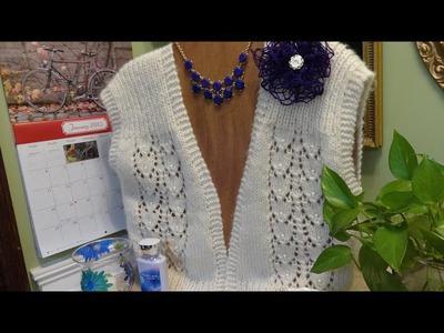J's Knit Snowdrop Lace Vest Tutorial.  EP.  #22. 2.