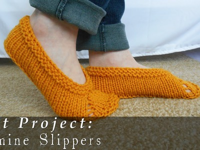 Jasmine Slippers | Quick & Easy { Knit }