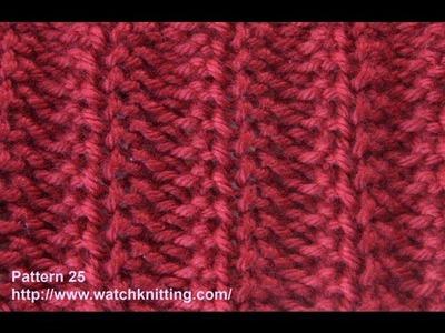 Jerseys stitch- Free Knitting Tutorials - Watch Knitting - pattern 25