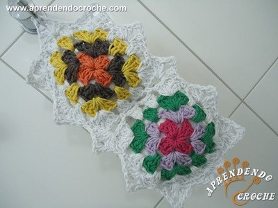 Jogo Banheiro Crochê Squares - Porta Papel Higiênico - Aprendendo Crochê