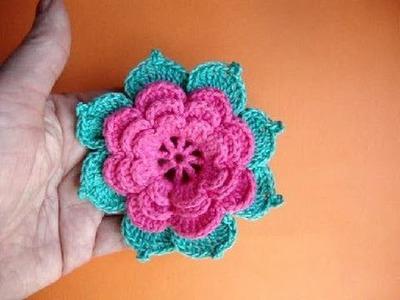 Как вязать розу крючком Урок19 Howto crochet rose Сomment tricoter une rose