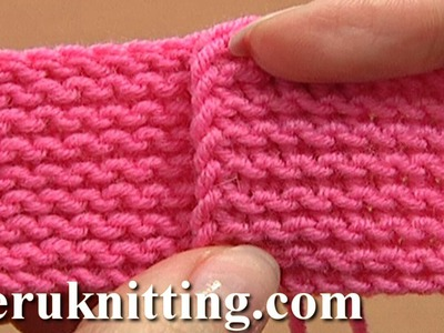 Knit The Garter Stitch Tutorial 6 Part 3 of 4 Work Knit Rows