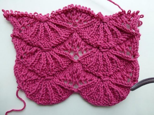 "Knit with eliZZZa * Knitting Stitch ""Bear's Paws"" * Video #01 * Lace Stitch"