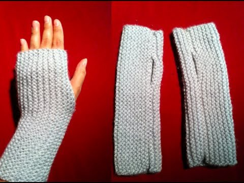 Knitted Fingerless Gloves | A Quick and Easy Knitted Project