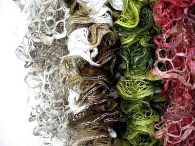 Knitted Ruffle scarves 2