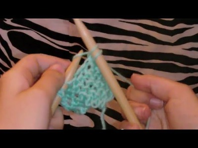 Knitting Tutorial for Beginners! (Casting on, Knitting, and Casting off)