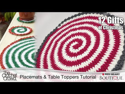 Learn How to Make Spiral Crochet Placemats Tutorial