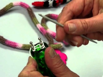 Learn how  to Use a French Knitter with Red Heart Yarns