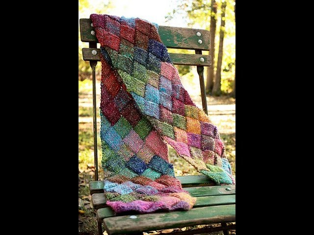 Learn to Knit an Entrelac Scarf