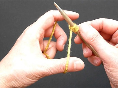 """Long Tail Cast On"" - Knitting Video Tutorial"