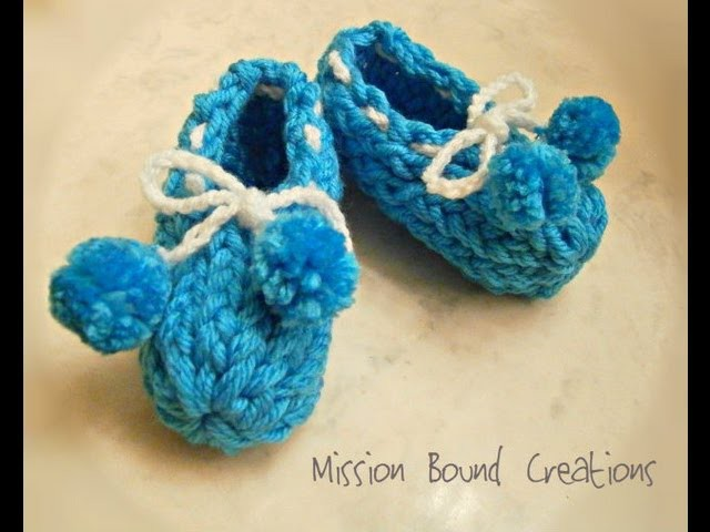 Loom Knit Baby Booties - From Start to Finish
