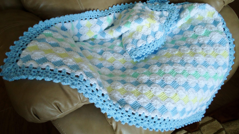 Mantita de Bebé en Punto Tunecino y Crochet (Parte 1)