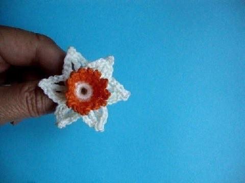 Нарцисс Урок 47 Вязаные крючком цветы Сrochet flower pattern narcissus