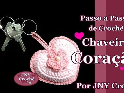 Passo a passo Coração 3D para chaveiro - JNY Crochê