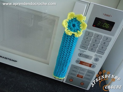 Puxador de Croche para Geladeira e Micro-ondas - Aprendendo Crochê