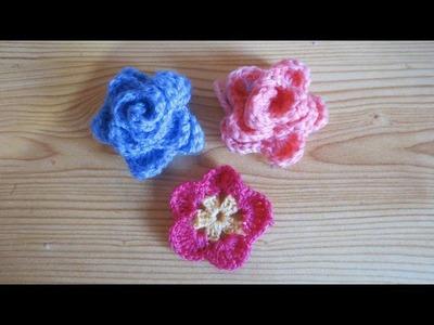 Rosa celeste de crochet