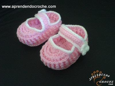 Sapatinho para Bebê em Croche Ingrid - 1º Parte - Aprendendo Crochê