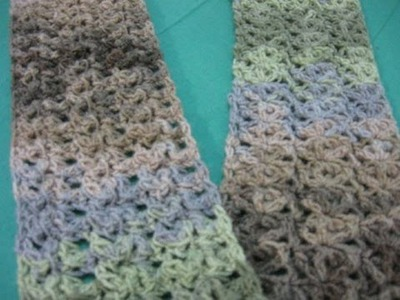 Starfish Stitch Scarf - Crochet Tutorial - New Stitch