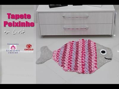 Tapete infantil Peixinho em crochê - Professora Simone
