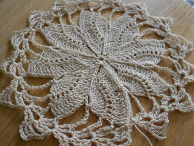 Tejido circular de 8 abanicos crochet