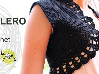 Tutorial Bolero Crochet o Ganchillo English Subtitles