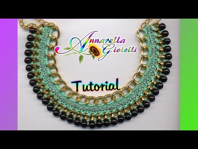"Tutorial Collana ""Egitto"" all'uncinetto | How to crochet a statement necklace"
