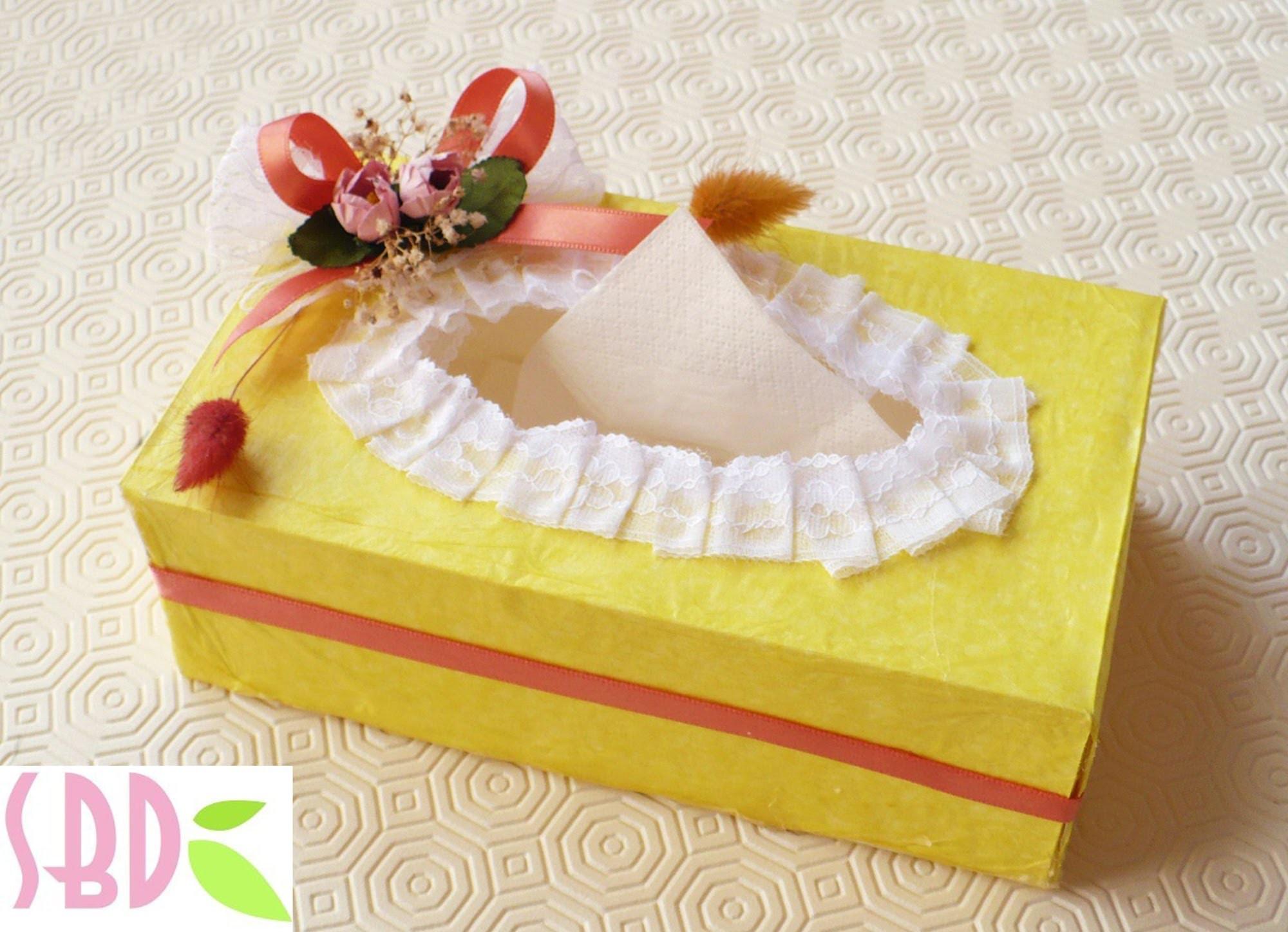 Tutorial: creazione e decorazione Scatola di fazzoletti - Tissue box decoration