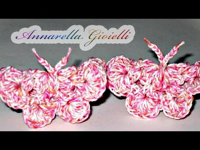 Tutorial - Farfalla all'uncinetto ( crochet butterfly )