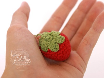 Tutorial Fresa Amigurumi Strawberry (English subtitles)