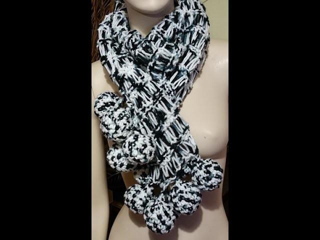 Tutorial sciarpa ai ferri - knitted scarf - bufanda con dos agujas