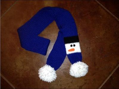 Tutorial: Snowman Scarf for Addi Express, Crochet, Knit or Loom Knit