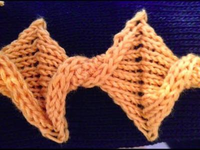 Twist knot detail - knit tutorial