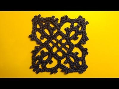 Урок 320 Кружево крючком Сrochet lace motive Вязание крючком - мотив