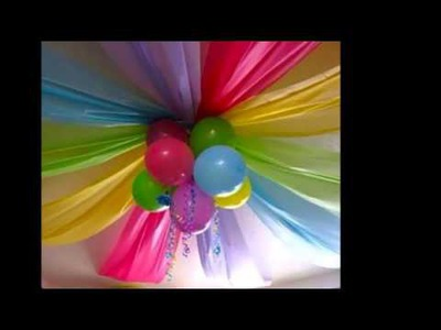 Utilizar el papel crepe para decorar una fiesta