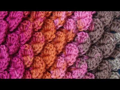 Узор 18 Чешуйки Сrocodil crochet pattern Вязание крючком