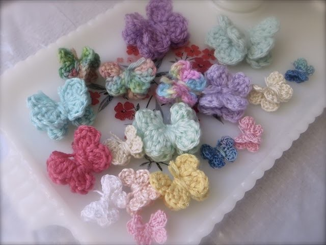 """Very Easy 3-D """"Flappy Winged"""" Crochet Butterfly Tutorial For Beginners"""