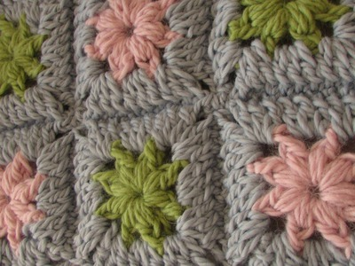 VERY EASY crochet chunky granny square - chunky baby blanket tutorial