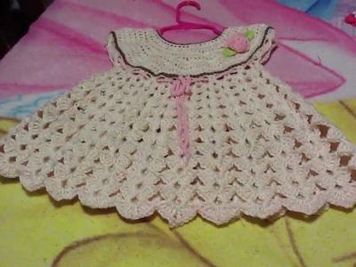 Vestido para  bebe a ganchillo o crochet