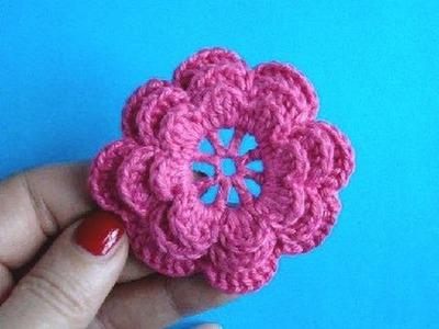 Вязаные цветы Урок 5 Ирландский цветок Crochet flower pattern