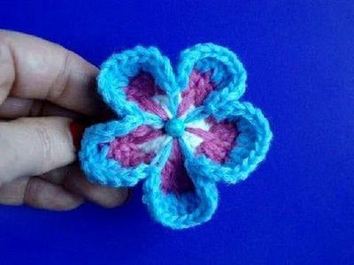 Вязание цветов крючком Урок 8 Цветок с пятью листиками