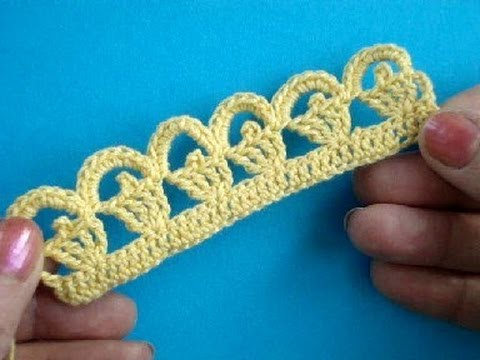 Вязание крючком Урок 275 Кайма Crochet lace