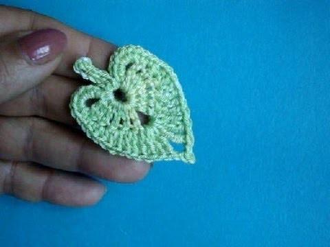 Вязание крючком Урок 313 Листики липы How to crochet linden leaf