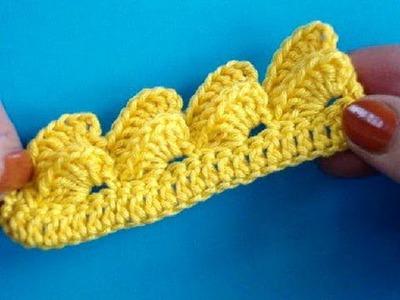 Вязание крючком Урок 274 Кайма crochet border