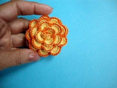 Вязаные крючком цветы How to crochet flower Урок 33 方法かぎ針編みの花へ